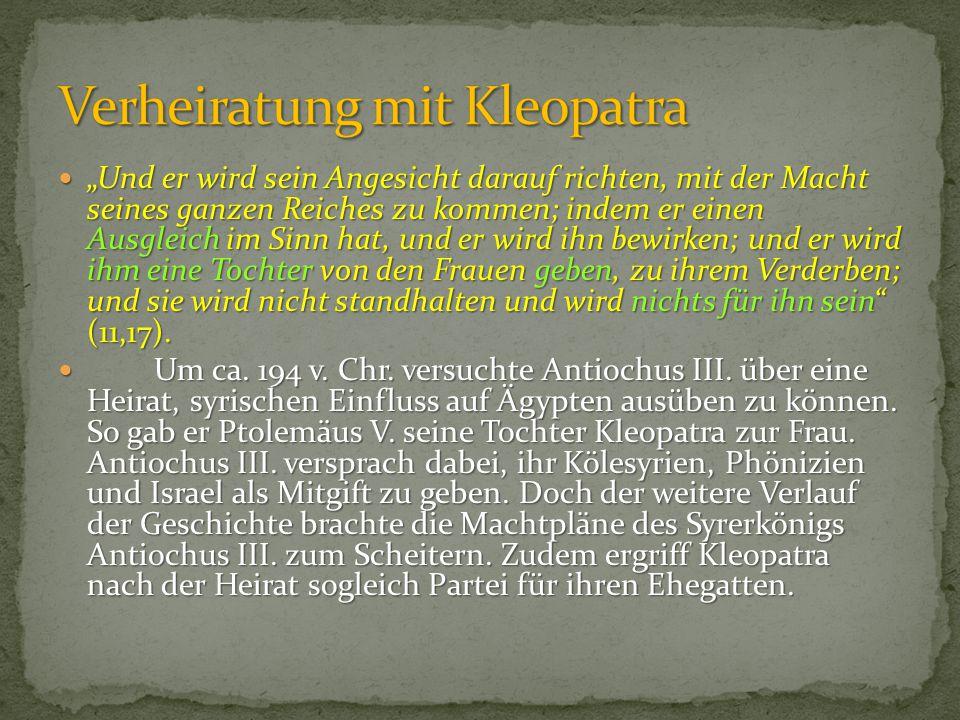 Verheiratung mit Kleopatra