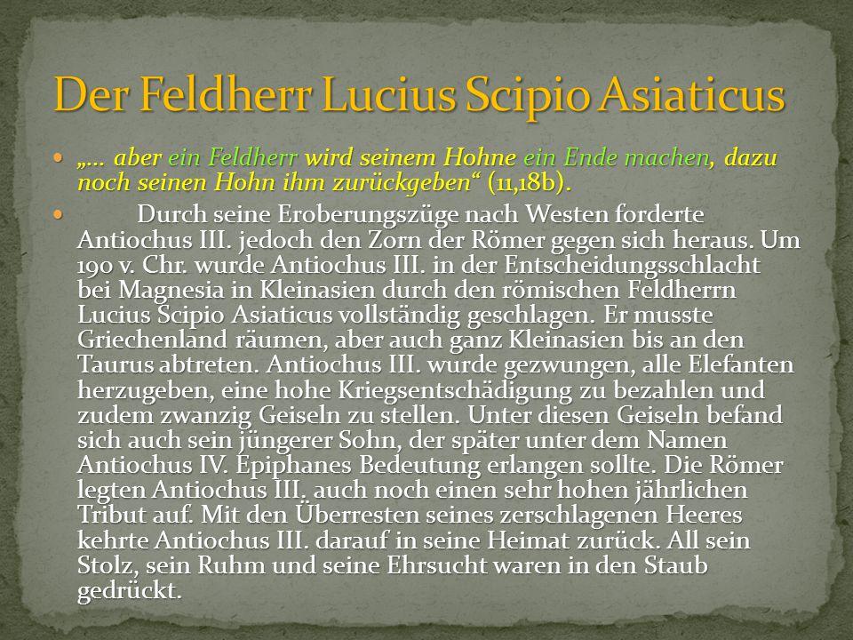 Der Feldherr Lucius Scipio Asiaticus
