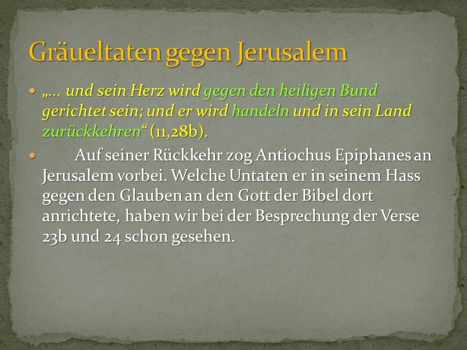 Gräueltaten gegen Jerusalem