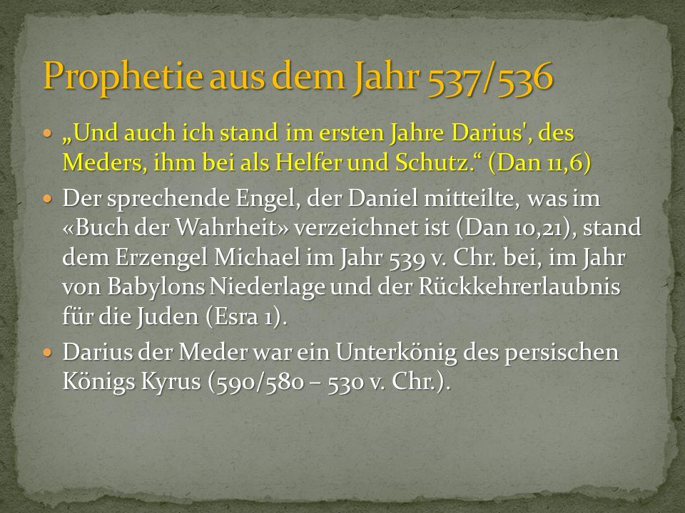 Prophetie aus dem Jahr 537/536