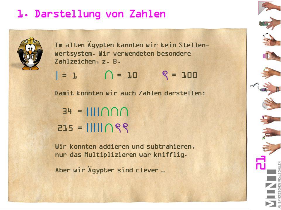 1. Darstellung von Zahlen