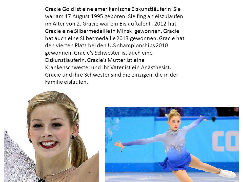 Gracie Gold ist eine amerikanische Eiskunstläuferin