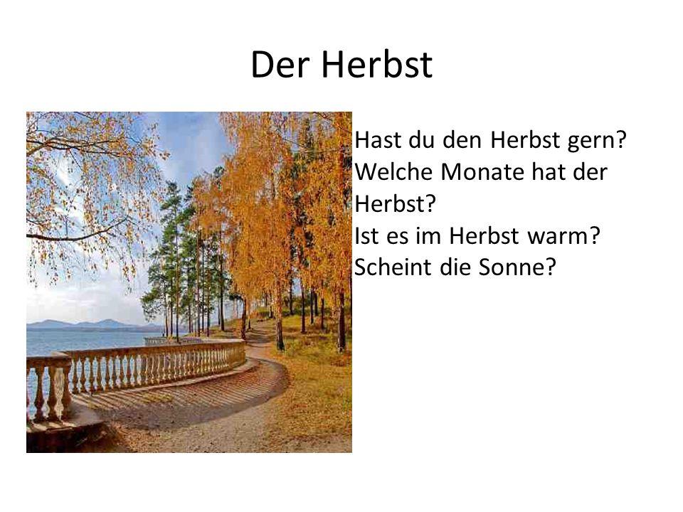 Der Herbst Hast du den Herbst gern Welche Monate hat der Herbst