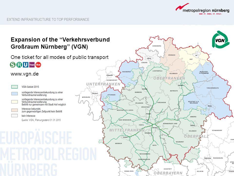 Expansion of the Verkehrsverbund Großraum Nürnberg (VGN)