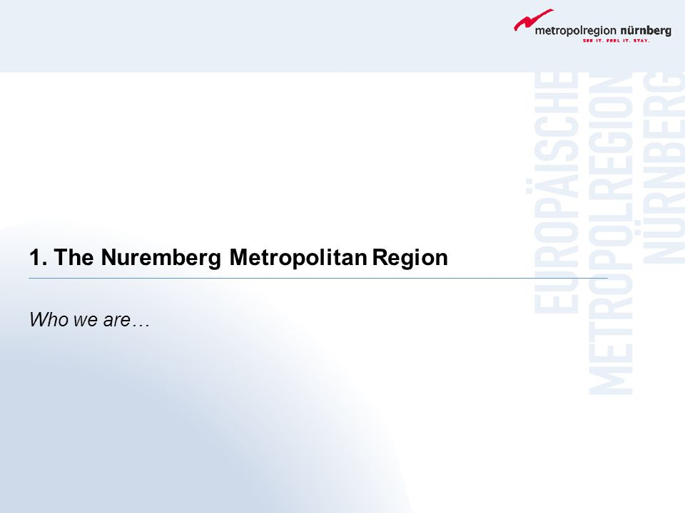 1. The Nuremberg Metropolitan Region