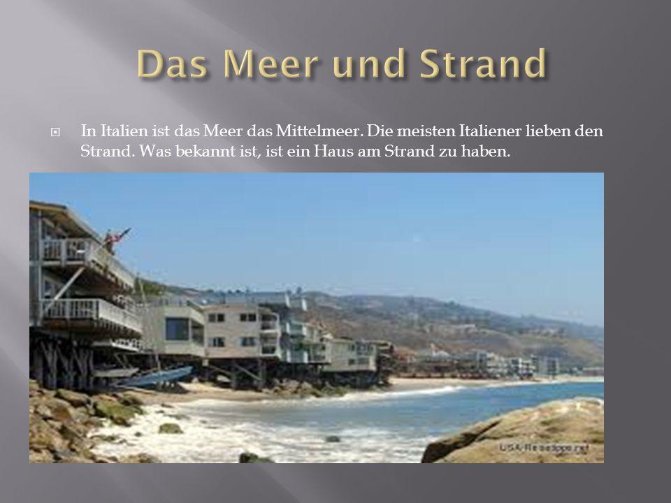 Das Meer und Strand