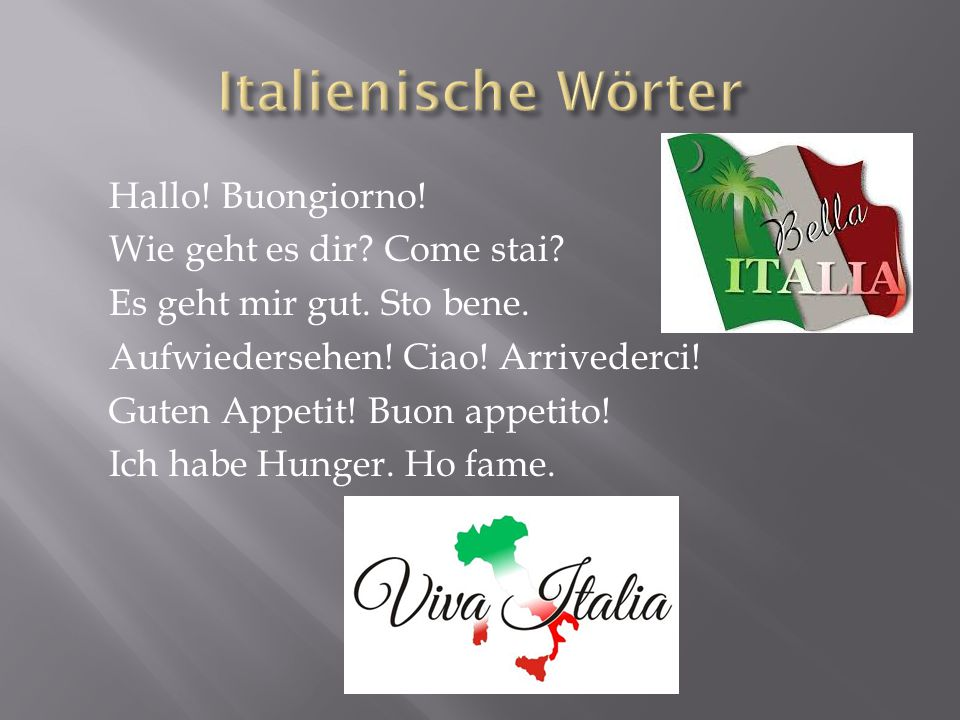 Italienische Wörter