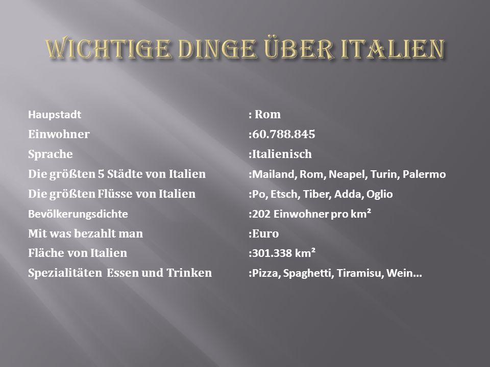 Wichtige Dinge über Italien