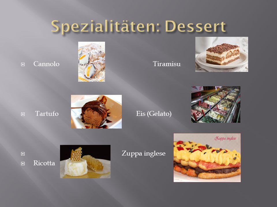 Spezialitäten: Dessert