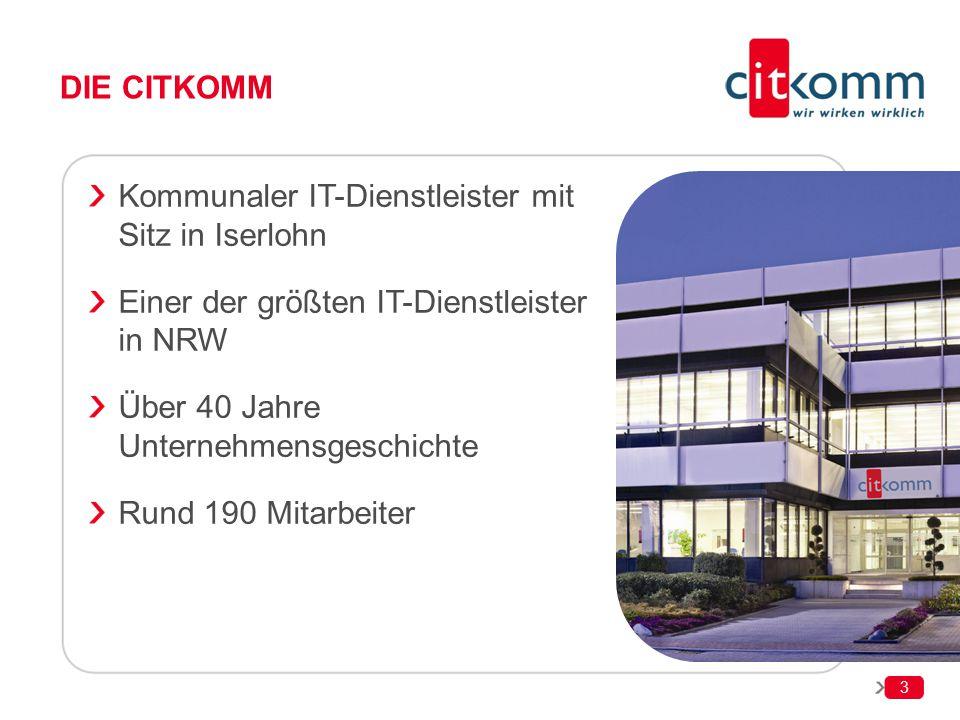 Die Citkomm Kommunaler IT-Dienstleister mit Sitz in Iserlohn. Einer der größten IT-Dienstleister in NRW.