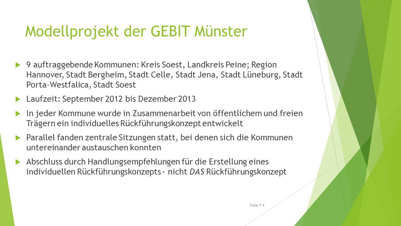 Modellprojekt der GEBIT Münster