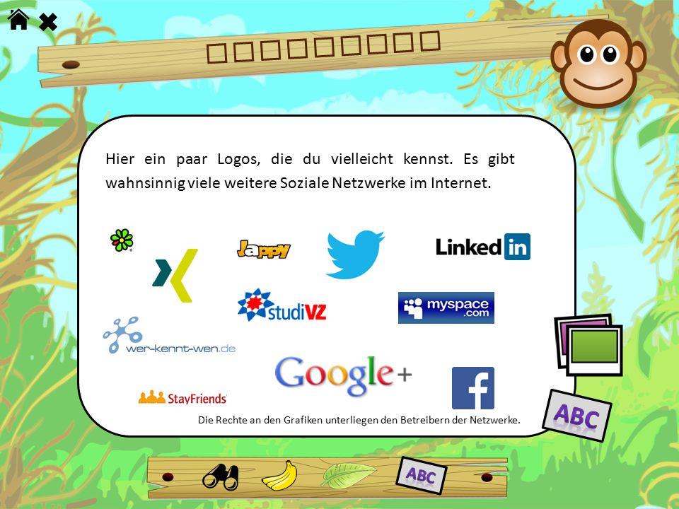 NETZWERKE Hier ein paar Logos, die du vielleicht kennst. Es gibt wahnsinnig viele weitere Soziale Netzwerke im Internet.
