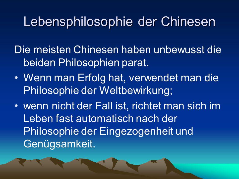 Lebensphilosophie der Chinesen