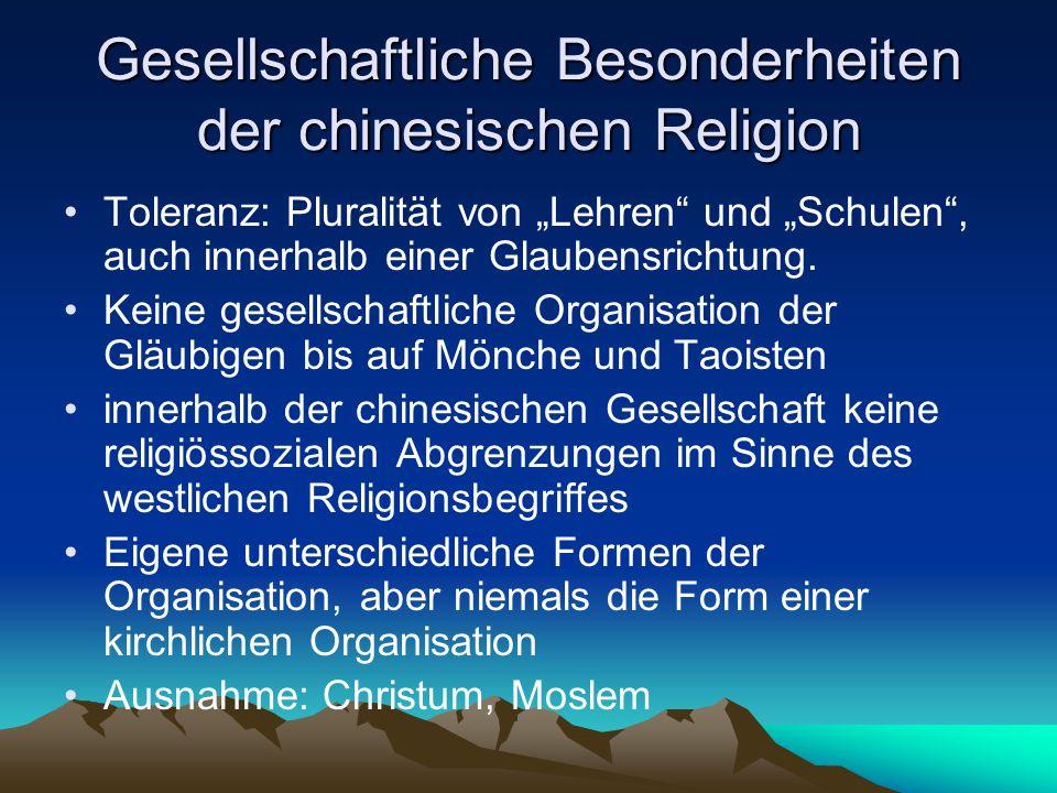 Gesellschaftliche Besonderheiten der chinesischen Religion