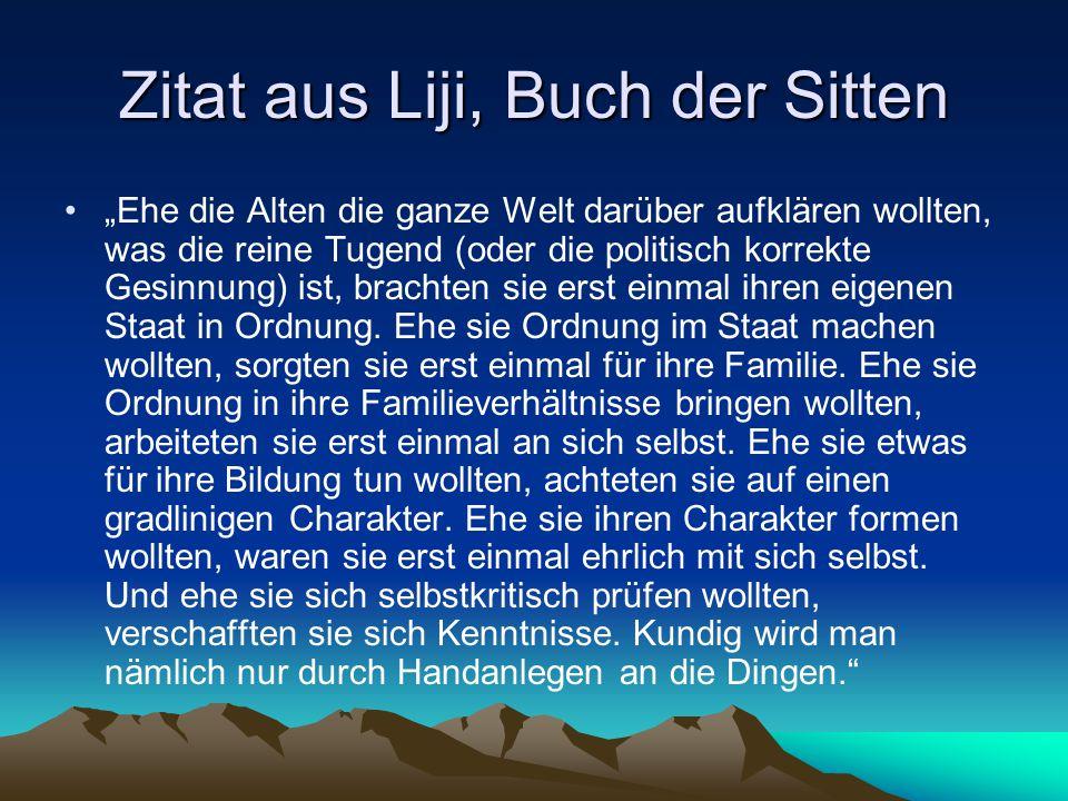 Zitat aus Liji, Buch der Sitten