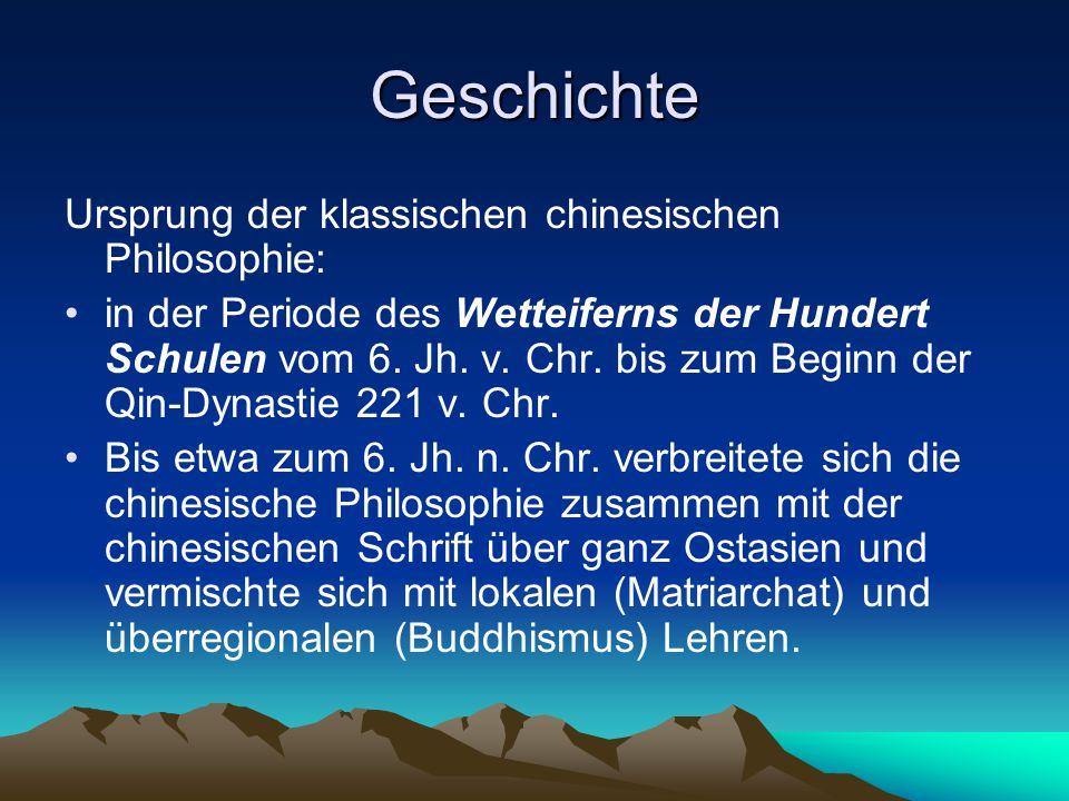 Geschichte Ursprung der klassischen chinesischen Philosophie: