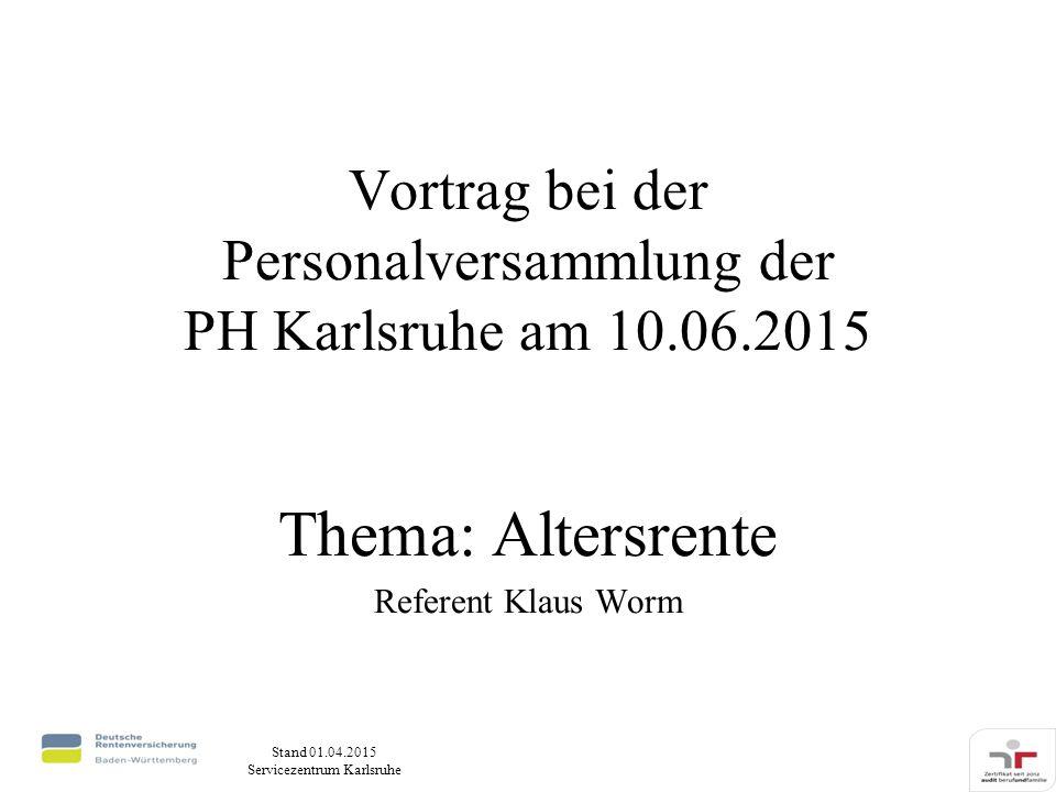 Vortrag bei der Personalversammlung der PH Karlsruhe am 10.06.2015