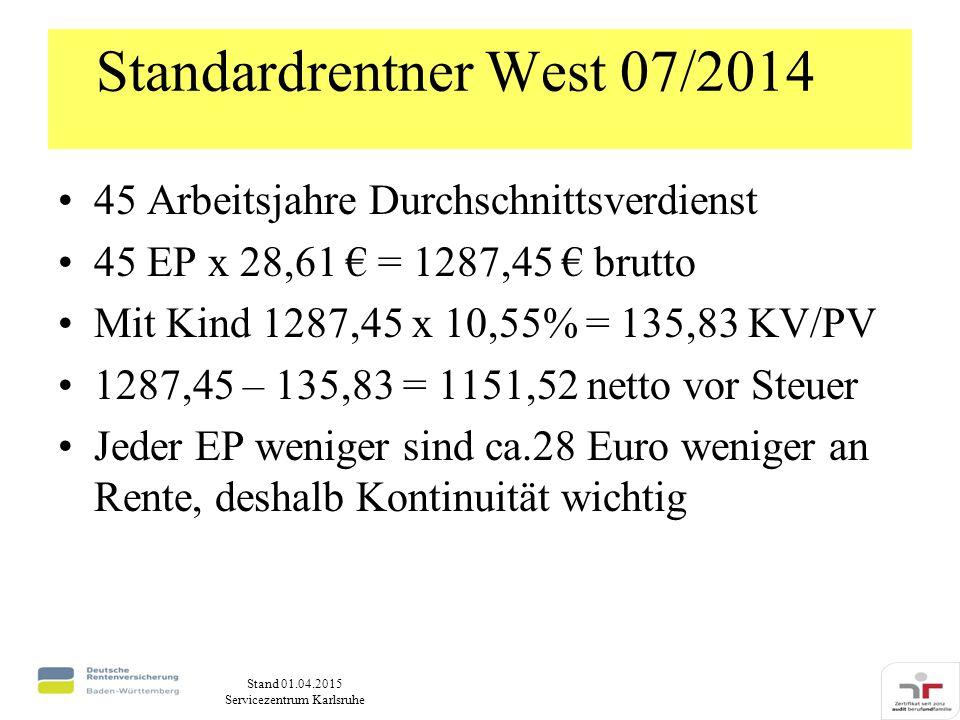 Standardrentner West 07/2014
