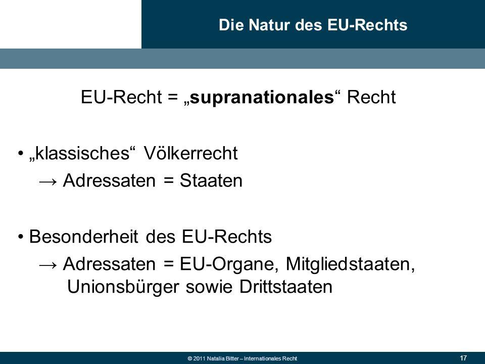 Die Natur des EU-Rechts