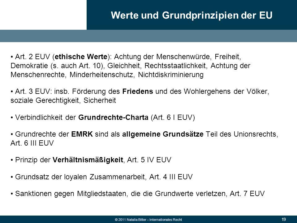 Werte und Grundprinzipien der EU