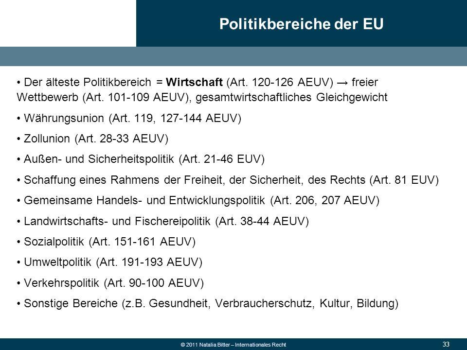 Politikbereiche der EU