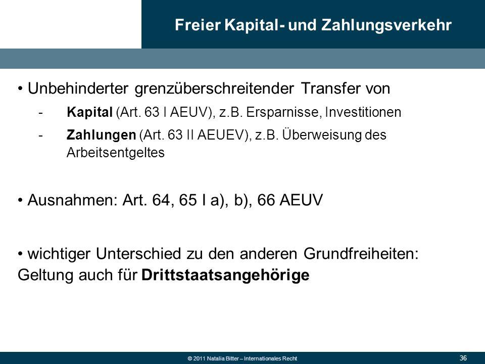 Freier Kapital- und Zahlungsverkehr