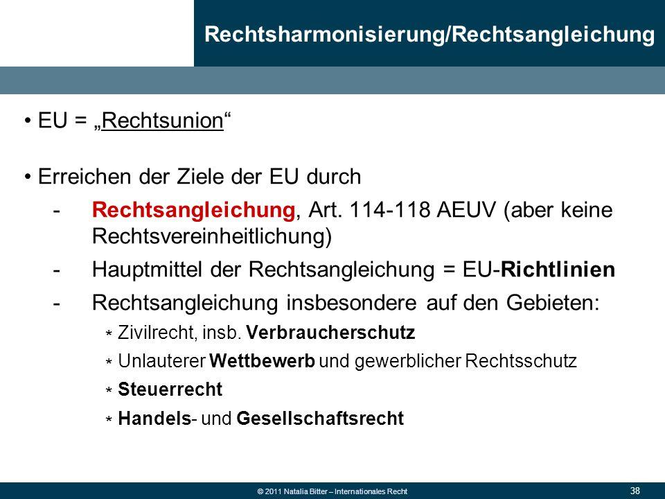Rechtsharmonisierung/Rechtsangleichung