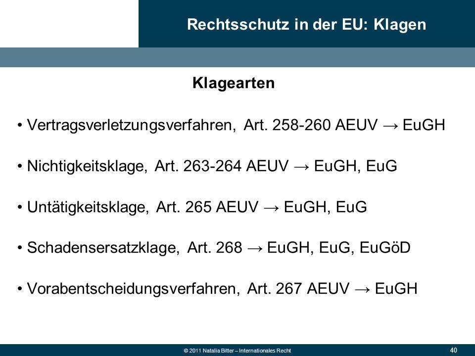 Rechtsschutz in der EU: Klagen