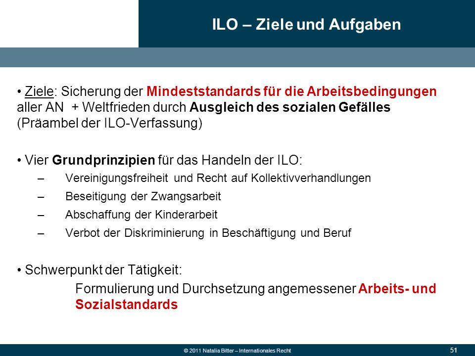 ILO – Ziele und Aufgaben