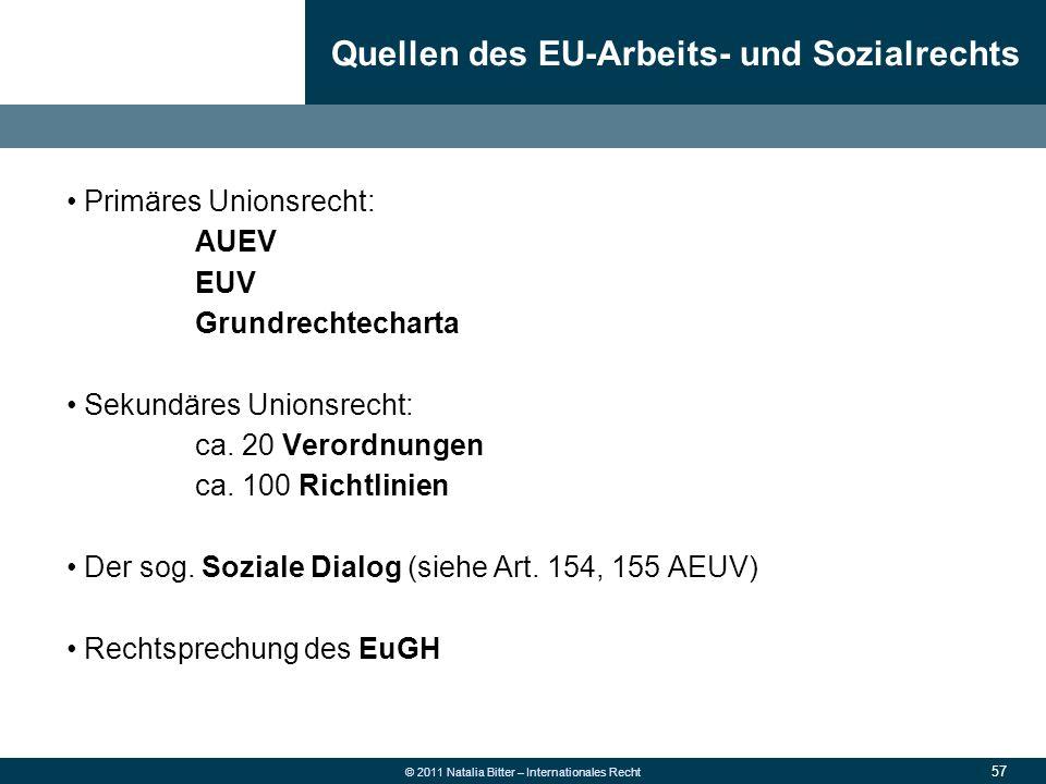 Quellen des EU-Arbeits- und Sozialrechts