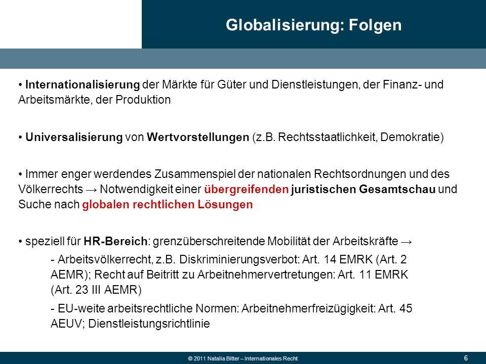 Globalisierung: Folgen
