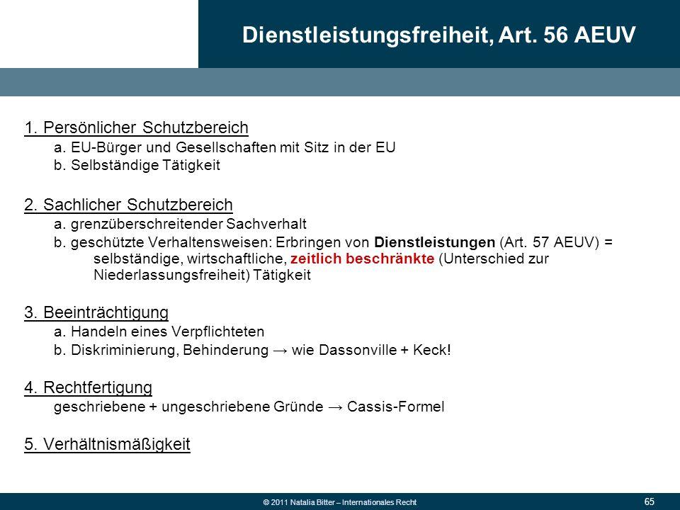 Dienstleistungsfreiheit, Art. 56 AEUV