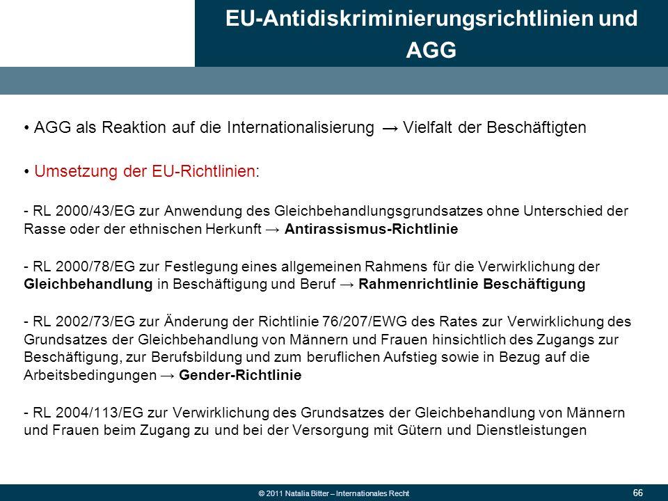 EU-Antidiskriminierungsrichtlinien und AGG