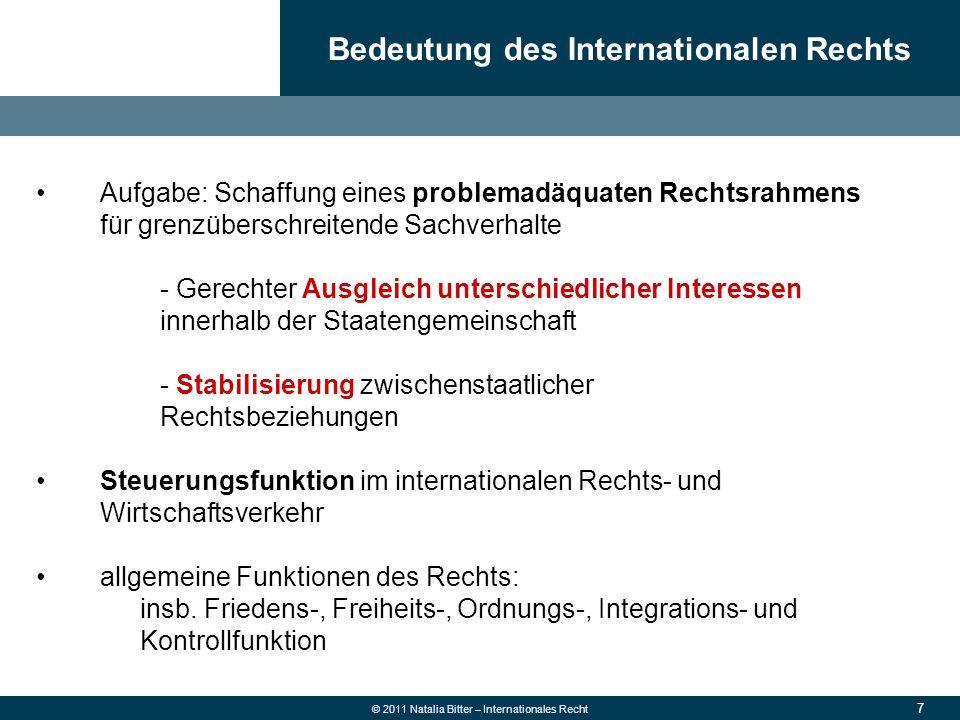 Bedeutung des Internationalen Rechts