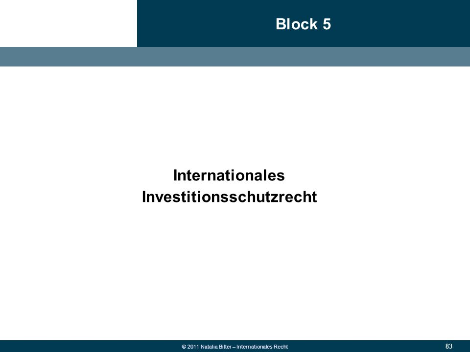 Block 5 Internationales
