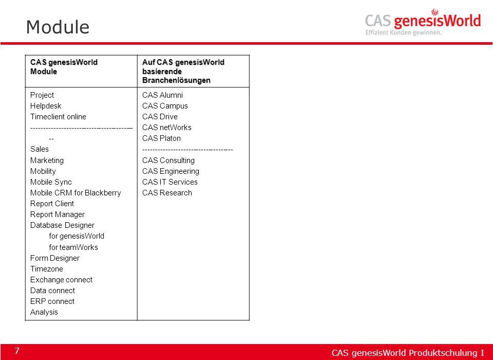 Module CAS genesisWorld Module