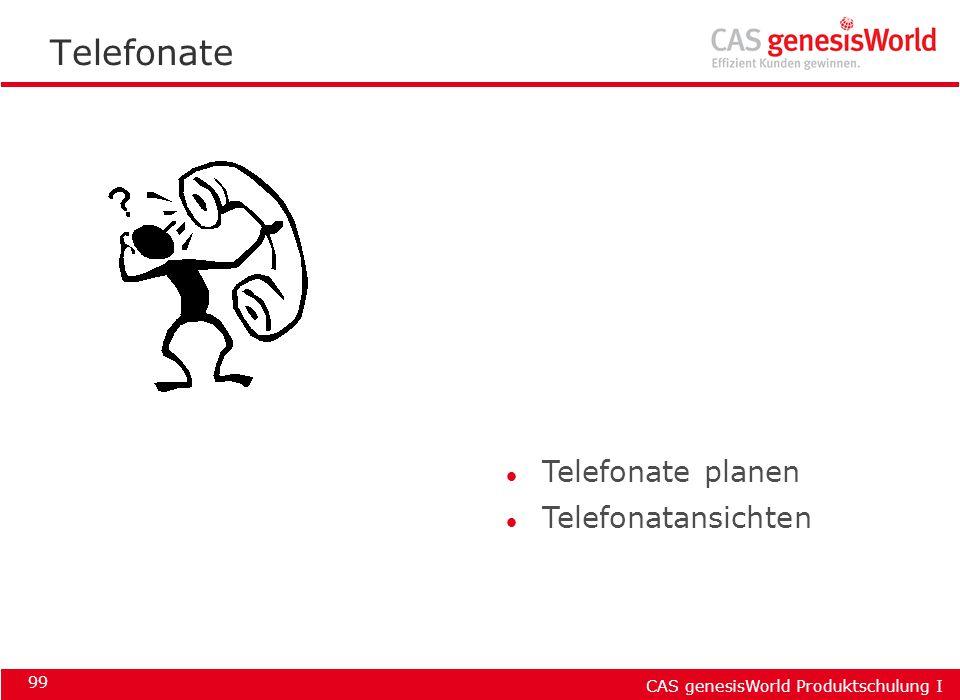 Telefonate Telefonate planen Telefonatansichten