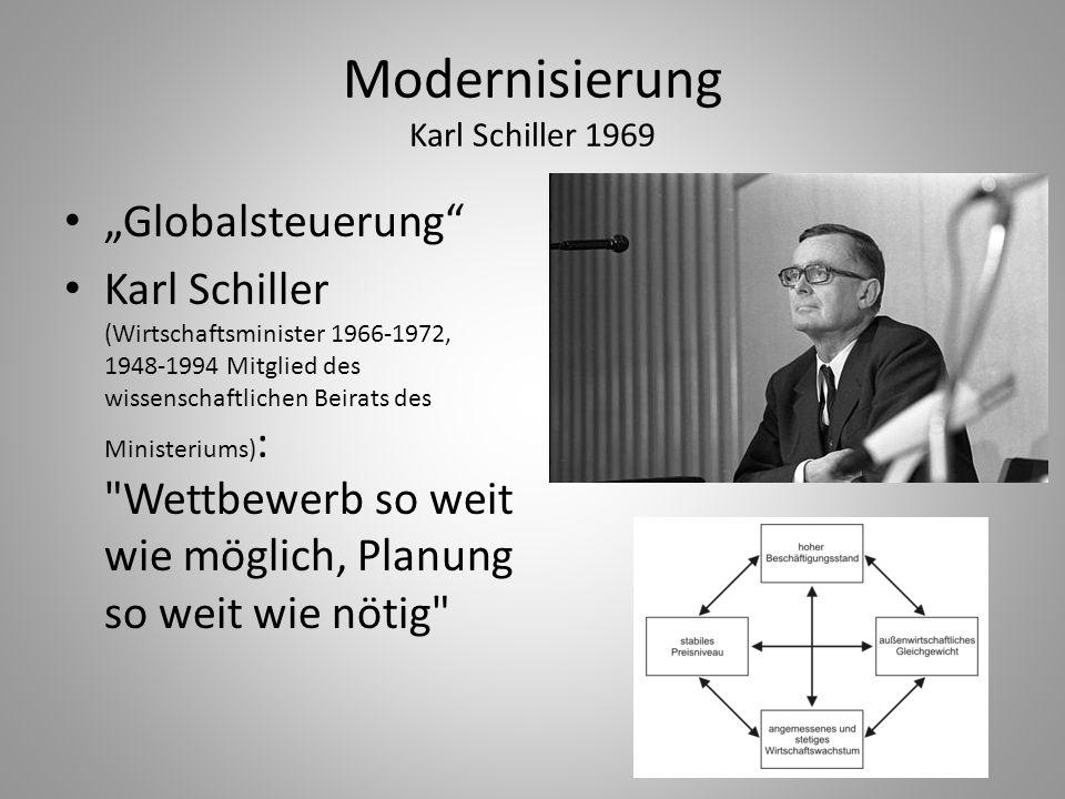 Modernisierung Karl Schiller 1969