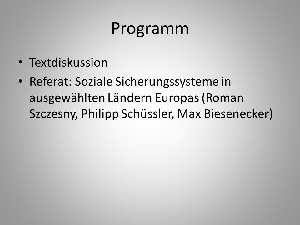 Programm Textdiskussion