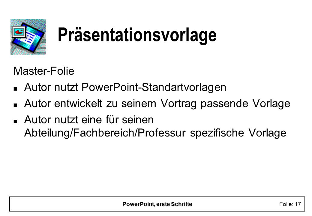 Präsentationsvorlage
