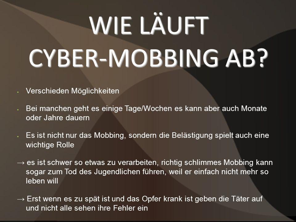 WIE LÄUFT CYBER-MOBBING AB