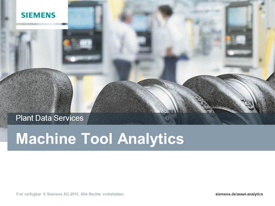 Machine Tool Analytics