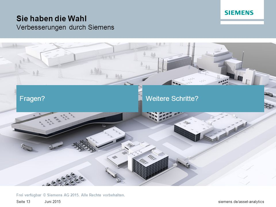 Sie haben die Wahl Verbesserungen durch Siemens