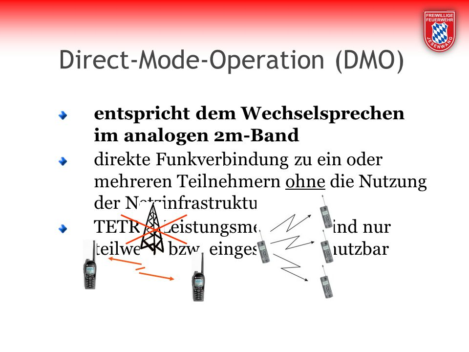 Direct-Mode-Operation (DMO)