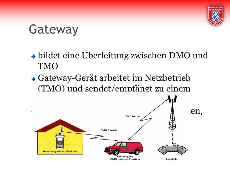 Gateway bildet eine Überleitung zwischen DMO und TMO