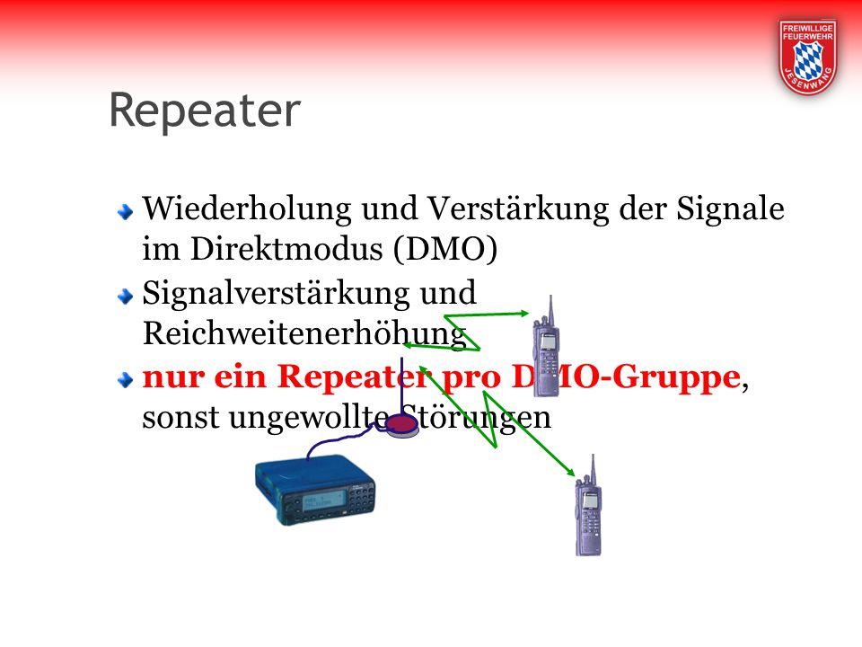 Repeater Wiederholung und Verstärkung der Signale im Direktmodus (DMO)