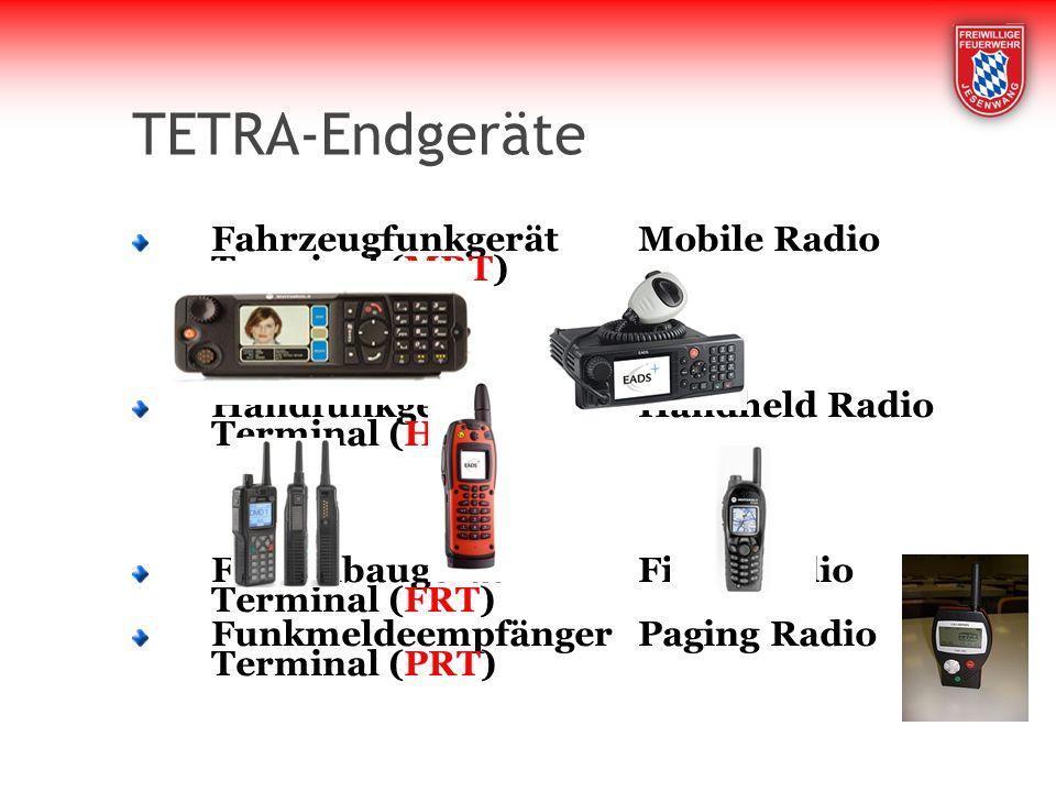 TETRA-Endgeräte Fahrzeugfunkgerät Mobile Radio Terminal (MRT)