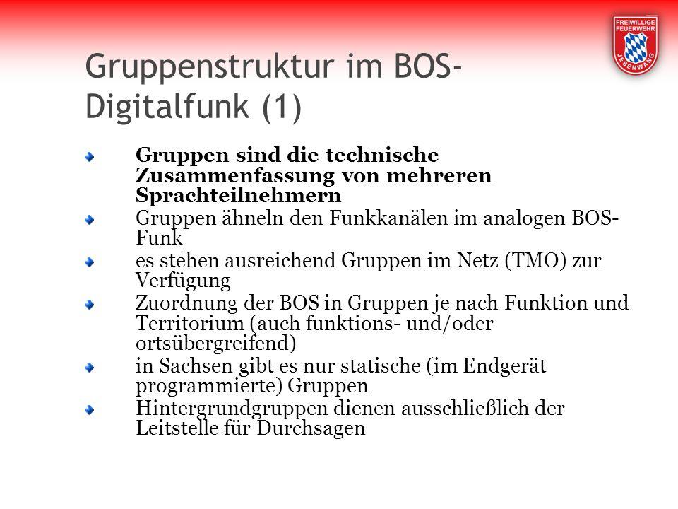 Gruppenstruktur im BOS-Digitalfunk (1)
