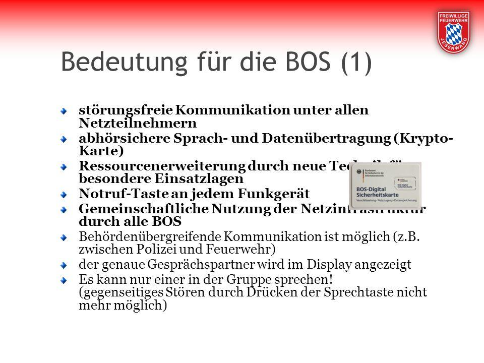 Bedeutung für die BOS (1)