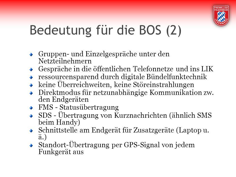 Bedeutung für die BOS (2)